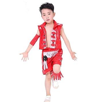 Wgwioo Children'S Modern Jazz Dance Costume Boy Stage