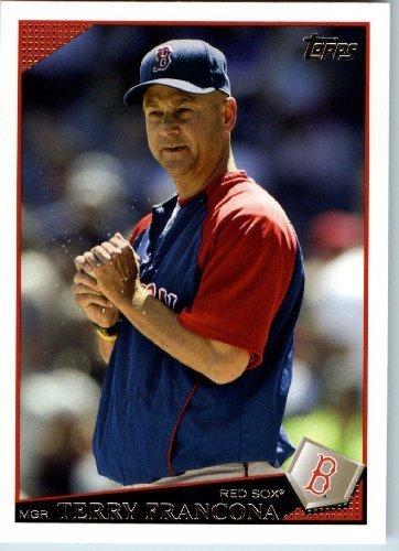 Sox Terry - 2009 Topps Baseball # 8 Terry Francona Boston Red Sox - MLB Trading Card
