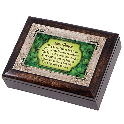 Irish Blessing Green Shamrocks Italian Design Jewelry Music Box Plays When Irish Eyes Smile