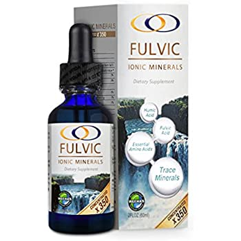 Fulvic Ionic Minerals X350 (2 oz) - More than Double the Concentration of most Concentrated Fulvic on the Market!