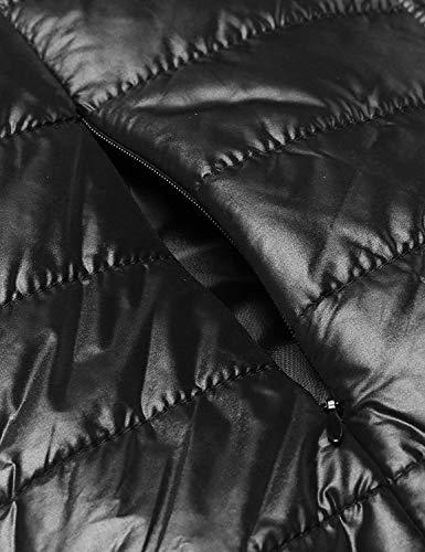 Cappotto Invernali Schwarz Incappucciato Leggero Bolawoo Zip Maniche Eleganti Di Transizione Casual Outerwear Donna Calda Giacca Piumino Giacche Colore Trapuntat Mode Comodo Autunno Lunghe Marca Puro XfvBSw