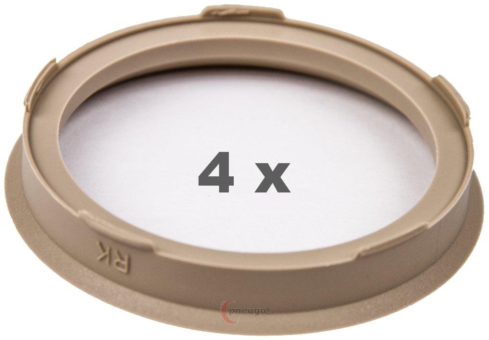 4/X Anello Di Centraggio 67.0/mm a 56.6/mm Beige