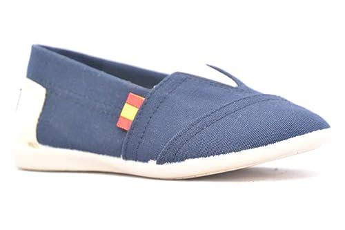 DUVIC 9070E Zapatilla SIN Cordones Bandera DE ESPAÑA: Amazon.es: Zapatos y complementos