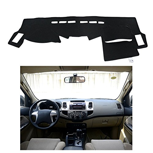 FLY5DDashMat Car Carpet Dashboard Sun Cover Pad Dash Mat for TOYOTA Fortuner 2011-2015.6 (TOYOTA Fortuner 2011-2015.6, Black)