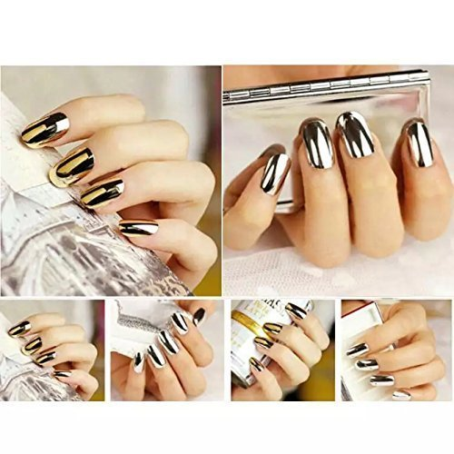 Glam Wrap (16 sheets METALLIC Gold NAIL ART DECALS azteca golden nail stickers NAIL WRAPS glam water transfer NAIL vinyls)