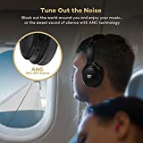 TaoTronics Active Noise Cancelling Bluetooth Headphones, Over Ear Wireless Headset, Dual 40 mm Drivers with Powerful Bass (25 Hour Playtime, cVc 6.0 Noise-Cancelling Mic, aptX High Clarity Sound)