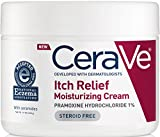CeraVe Itch Relief Moisturizing Cream Tub 12 oz with Pramoxine Hydrochloride and Ceramides for Relief From Itch and Irritation
