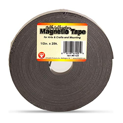 Hygloss Products, Inc. Magnetic Tape, Self- Adhesive, 1/2-Inch x 300-Inch ()