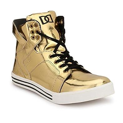 76000b87 Parmar Foot Style Men's Golden Casual Sneaker Hip Hop Shoe: Buy ...