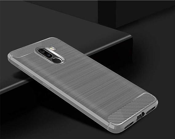 Amazon.com: Xiaomi Pocophone F1 Funda de Fibra de Carbono a ...