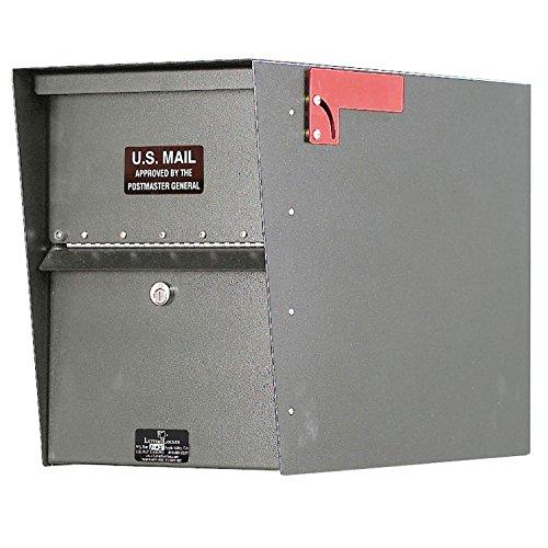Jayco LLA1STD Standard Aluminum Letter Locker Mailbox Gray