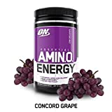 OPTIMUM NUTRITION ESSENTIAL AMINO ENERGY, Concord Grape, Preworkout and Essential Amino Acids,with Green Tea and Green Coffee Extract, 30 Servings Review