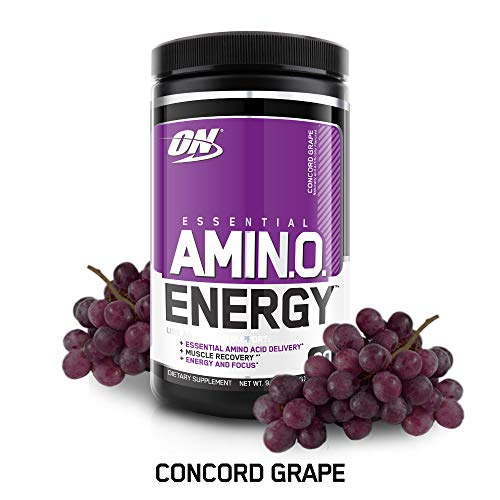 OPTIMUM NUTRITION ESSENTIAL AMINO ENERGY, Concord Grape, Keto Friendly Preworkout and Essential Amino Acids,with Green Tea and Green Coffee Extract, 30 Servings
