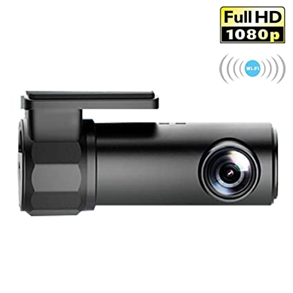 KOBWA WIFI Cámara de salpicadero de 1080P FHD DVR cámara de salpicadero de coche grabadora de