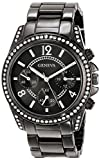 Geneva Moderate Women's AMZ1025 Boyfriend Triple Gunmetal Faux Multi-Function Link Bracelet Watch