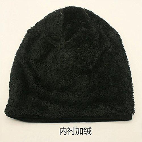 Patrón Slouchy Unisex Rojo triángulo Skully Warm Cap Beanie de BaronHong Velvet Hat OXxr6gOqnw