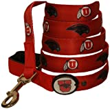 Dog-E-Glow University of Utah Utes Lighted LED Dog Leash, 6-Feet