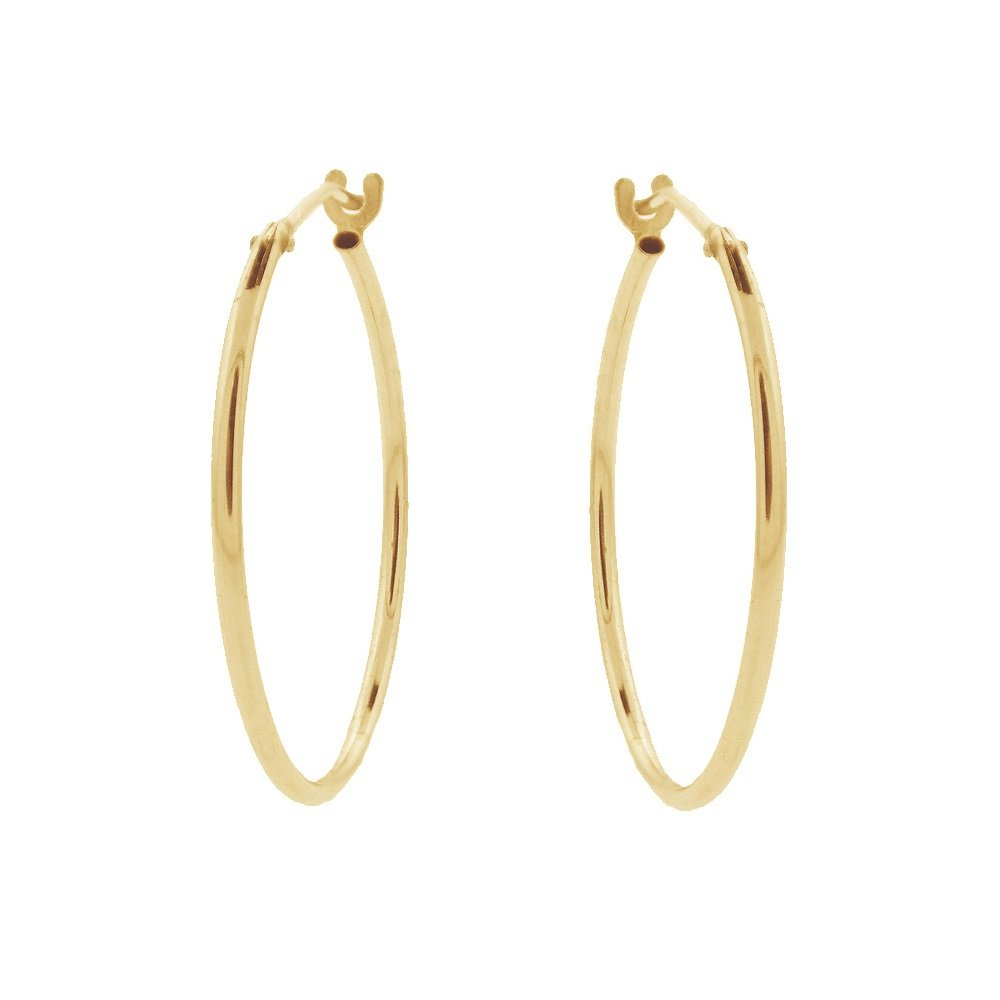 Golden Hoop Earrings By Kate Bissett