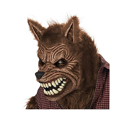 Costume Beautiful Animotion Brown Werewolf Mask