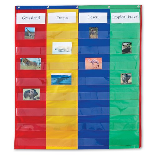 Learning Charts Classroom Material - Learning Resources 2 And 4 Column Double-sided Pocket Chart