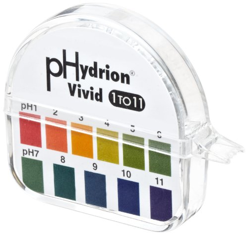(Micro Essential Lab 51 Hydrion Wide Range pH Test Paper Dispenser, 1 - 11 pH, Single Roll)