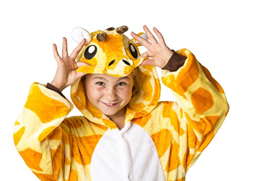 All Costumes For Girls (Ultra Soft Unisex, Boys, Girls Pajamas Kigurumi Costume for Kids (X-Large, Giraffe))