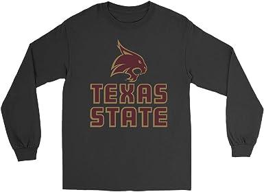 White Elite Fan Texas State Bobcats Mens Short Sleeve Arch Tee Medium