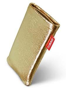 fitBAG Groove Gold Funda para Nokia E63. Piel napa de calidad superior con forro de microfibra para la limpieza de pantalla