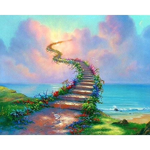 Girooms 5D Diamond Painting Full Drill Stairway to Heaven Diamond Painting by Number Kits for Wall Decoration