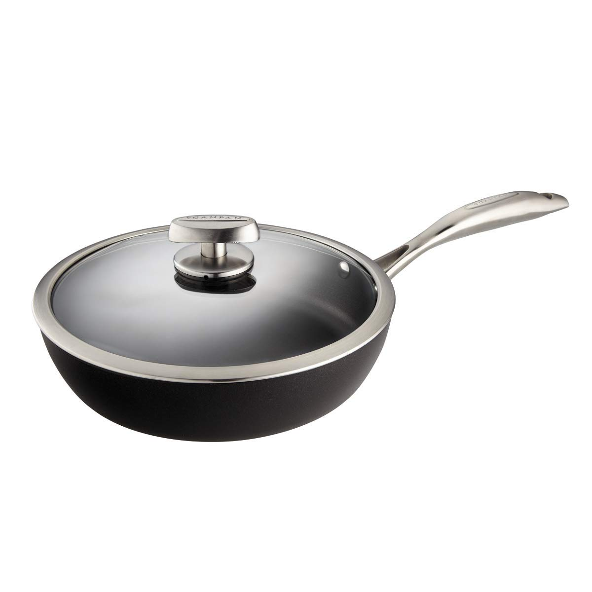 Scanpan PRO IQ Nonstick Covered Saute Pan, 2.75 quart, Black by Scanpan (Image #2)