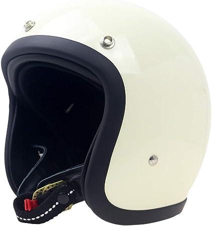 Amazon.es: Casco de la moto Medio casco de la vendimia de la cara del estilo japonés del casco de la motocicleta abierta forro desmontable Deportes Casco protector Protección para la cabeza (Color :