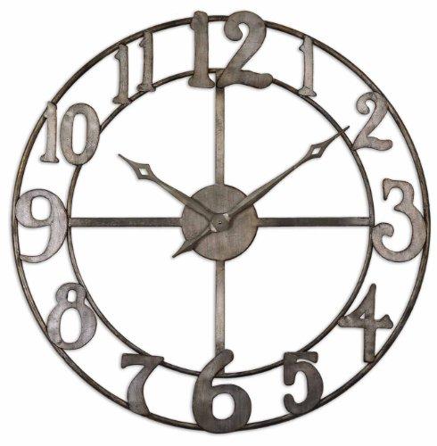 Uttermost Delevan Wall Clock (Hudson Metal Clock)
