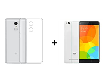 Xiaomi Redmi Note 4X Silicona Funda Trasera Carcasa Cubierta de Excelente Absorción de Golpes + Xiaomi Redmi Note 4X Cristal Vidrio Templado Premium, ...