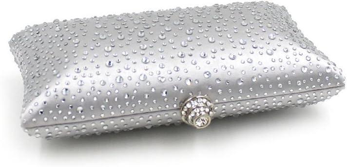 Zoueroih Pochette da Cerimonia Pochette da Donna Borsa cosmetica da Sposa Pochette da Sposa Pochette da Sera Pochette da Sera (Color : Gold) Silver