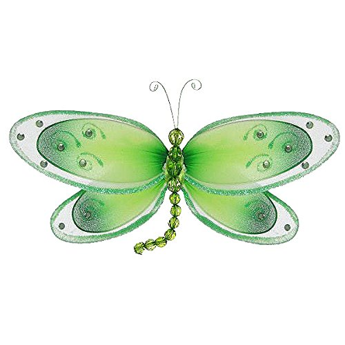 The Butterfly Grove Avery Dragonfly Decor, Green Honeydew, Medium, 11