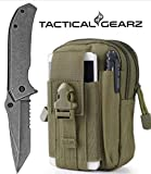 LIGHTNING DEAL!! Tactical Folding Knife, Alpha StoneWashed, 440c Stainless Steel Blade, Spring Assist Open(Army Green) Review
