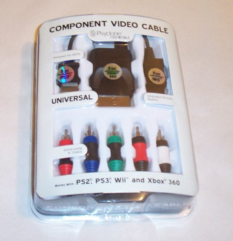 UNIVERSAL COMPONENT VIDEO CABLE FOR Wii, PS2, PS3, & XBOX 360 (Component Ps3 Video Cable)