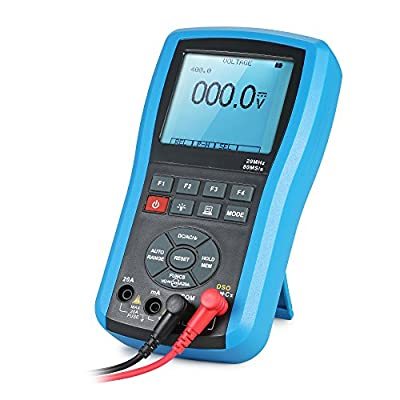 Oscilloscope, KKmoon 2 in 1 Multi-functional 20MHz 80MS/s Handheld Digital Storage Oscilloscope DSO Scope Meter True RMS Multimeter Auto/Manual Range with USB Communication Function