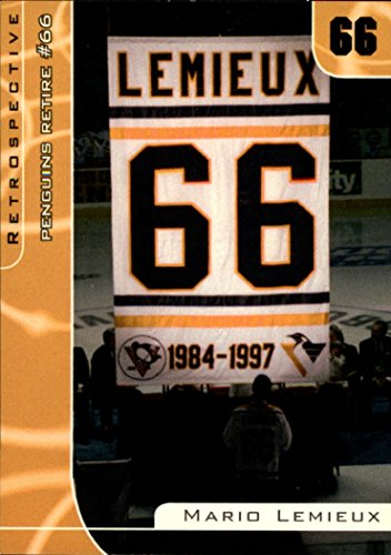 (2000-01 BAP Signature Series Mario Lemieux Retrospective #R17 M.Lemieux-Pitts.retires 66 - Penguins )