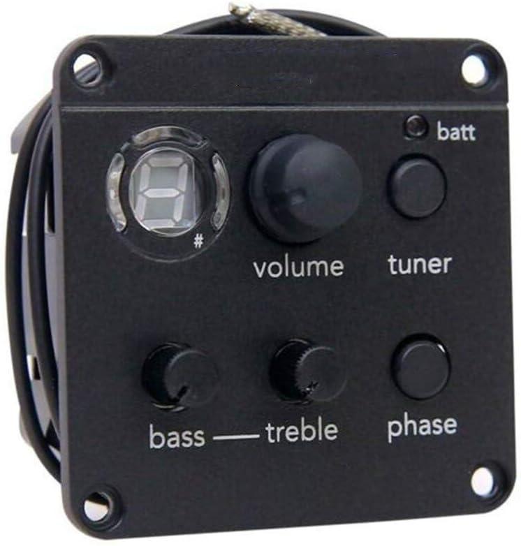 Recogida ecualizador guitarra acústica recogida preamplificación EQ Sintonizador Piezo Afinadores