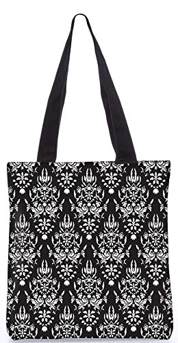 """Snoogg Weiß-Muster-Einkaufstasche 13,5 X 15 In """"Shopping-Dienstprogramm Tragetasche Aus Polyester Canvas"""