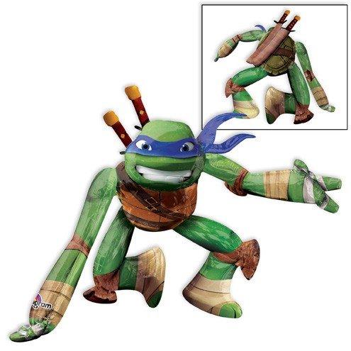 [LoonBallon Teenage Mutant Ninja Turtle Leonardo Airwalker Balloon, Giant AirWalker, 1 Pieces] (Ninja Turtle Face Painting)