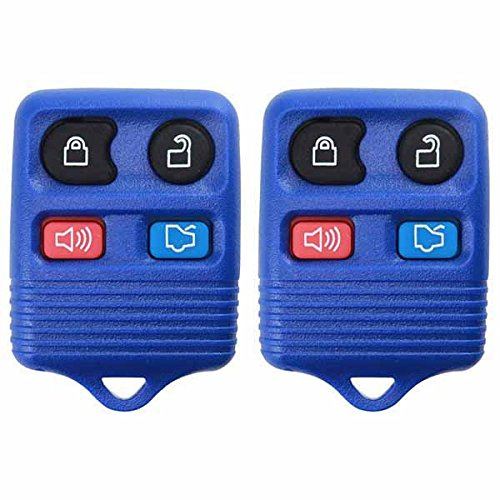 2 KeylessOption Blue Replacement 4 Button Keyless Entry Remote Control Key Fob - Button Remote Keyless Entry