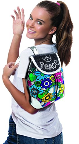 51isoohboML - AMAV Toys Custom Paintable Reversible Sequins Backpack. Create Your Own Personalized School Launch Bag. Design Your Own Cool Print in an Instant. Comes with 5 Colored Markers