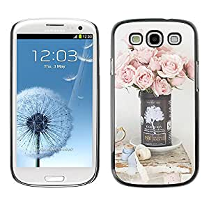 SHIMIN CAO- Dise?o Caso duro de la cubierta Shell protector FOR Samsung Galaxy S3 I9300 I9308 I737- Pink Flowers Flower
