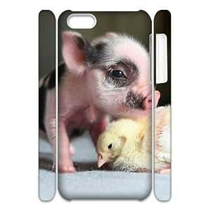 LZHCASE Design Diy hard Case Cute Pig For Iphone 4/4s [Pattern-1]