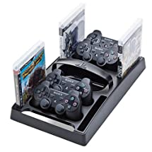 LevelUp Gaming Storage Tray for Sony PS3/PS2 - Black