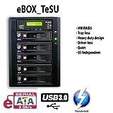 Thunderbolt | eSATA | USB3.0 Five SATA trayless. driverless hardware RAID/JBOD enclosure with DirectAir (tm) technology