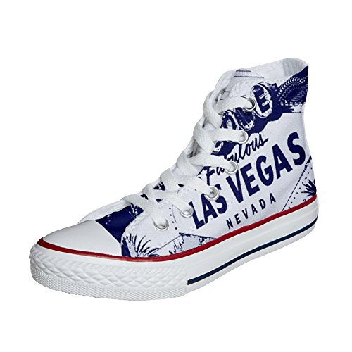 Adulte Adulte Customized Produit Chaussures Artisanal Customized Las Coutume Chaussures Converse Converse Vegas Coutume YXxOEnAqw