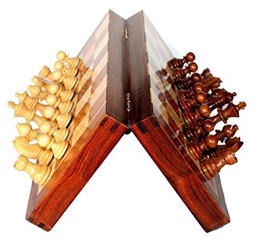 "Best Chess Set Sale - BKRAFT4U 10 x 10"" Rosewood Travel Ches"